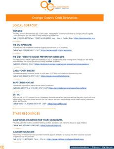 OC Crisis Resource List cover