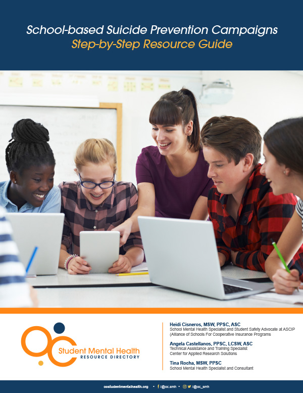 Cover page for School-based Suicide Prevention Campaigns Step-by-Step Resource Guide