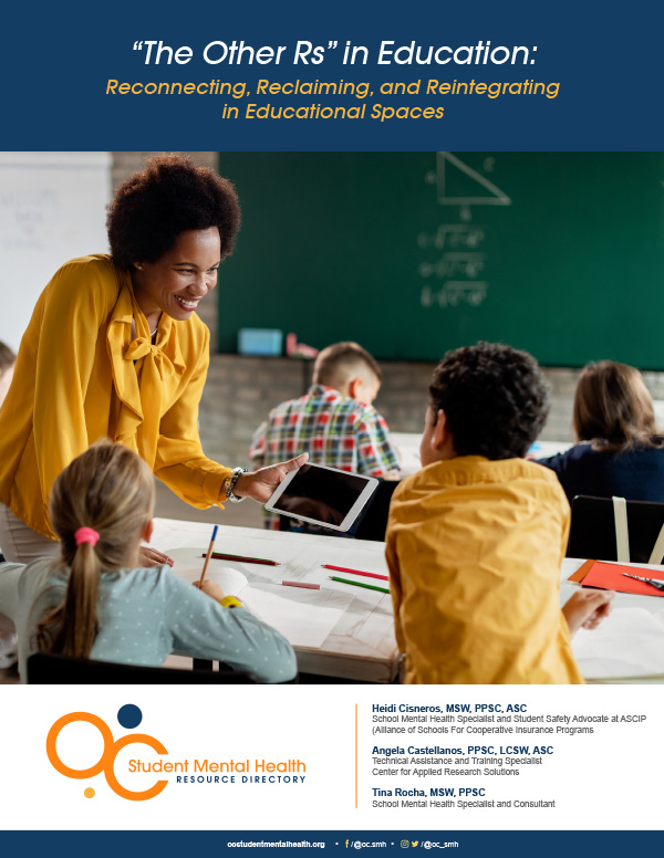 """Cover page for """"The Other Rs"""" in Education: Reconnecting, Reclaiming, and Reintegrating"""